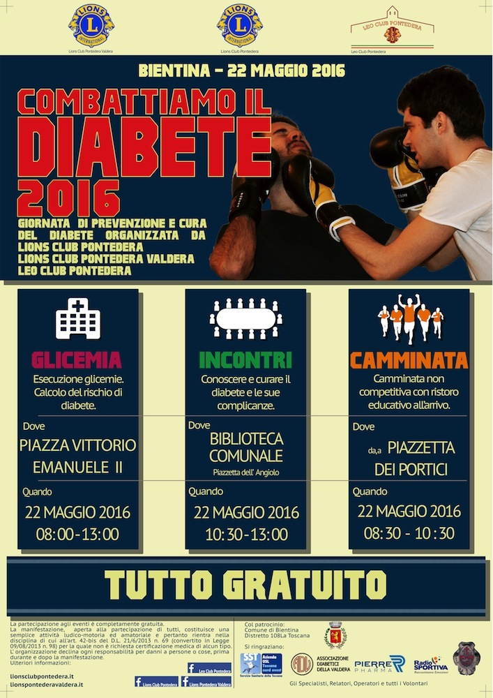 Locandina -Combattiamo diabete
